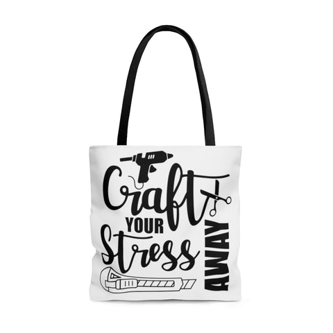 AOP Tote Bag Craft your Stress Away