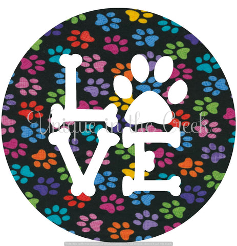 LOVE colorful dog print - digital insert for use with the UITC system