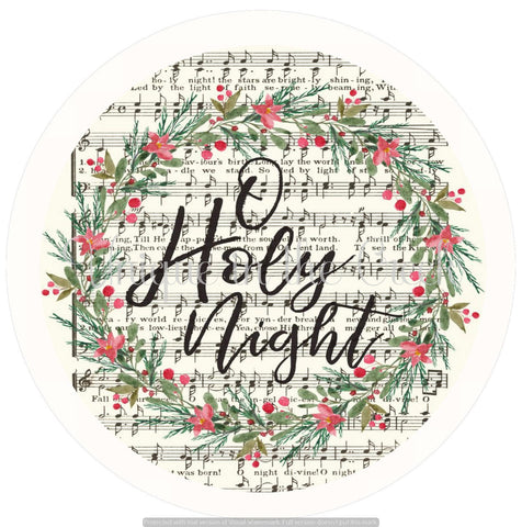 O Holy night with music notes - digital insert for use with the UITC system