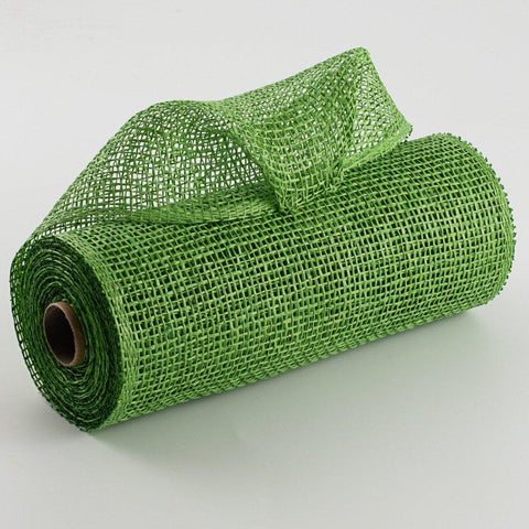 "Deco mesh - 10"" x 10yd   LIME GREEN Poly Burlap - unique in the creek canada"