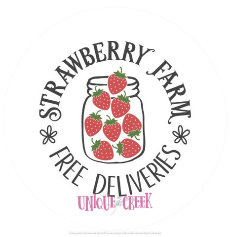 UITC™ Strawberry Farm Image Insert Wreath Signage