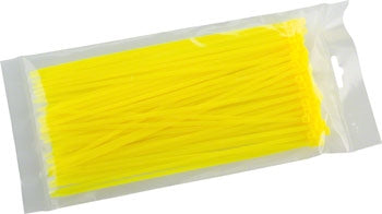"ZipTies - 100 pack of 6.5"" 18lb YELLOW"