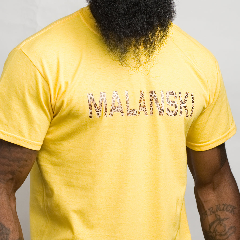 Malanski Vinyl Cheetah Print T-Shirt For Men