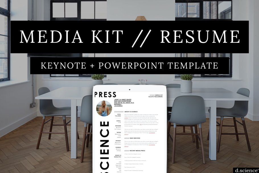 Media Kit Template | Press Kit Template | Keynote | Powerpoint