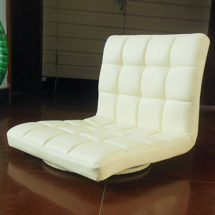 Living Room Furniture Floor Leather Chair 360 Degree Swivel Beige Sofa Living Room Furniture Japanese Meditation Backrest Legless Tatami Zaisu Chair