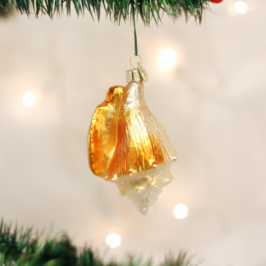 Golden Seashell Ornament