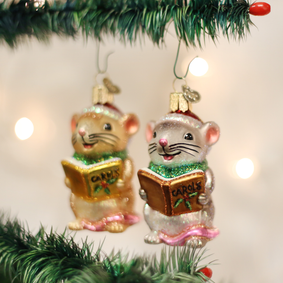 Caroling Mouse (a) Ornament