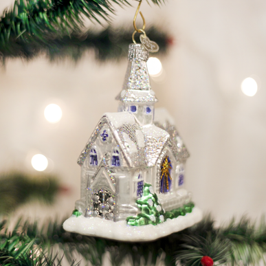 Sparkling Cathedral Ornament