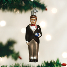 Groom - Brunette Ornament
