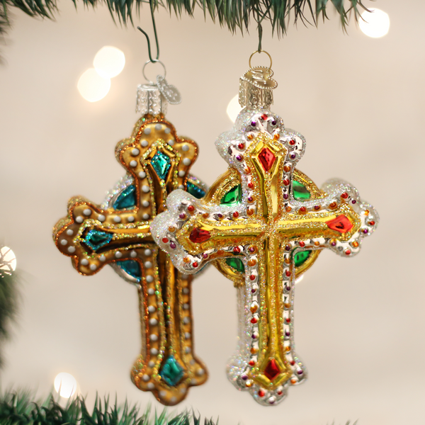 Jeweled Cross (a) Ornament