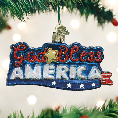 God Bless America Ornament