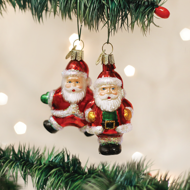 Assorted Miniature Santa Ornament
