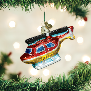 Helicopter Ornament