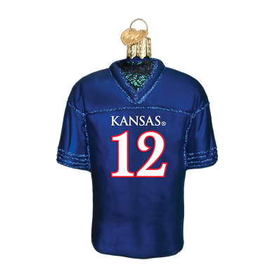 Kansas Football Jersey Ornament
