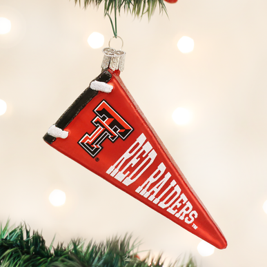 Texas Tech Pennant Ornament