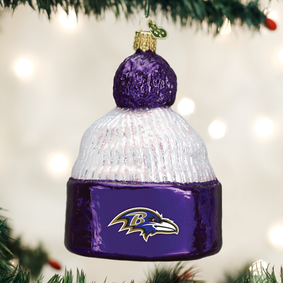 Baltimore Ravens Beanie Ornament