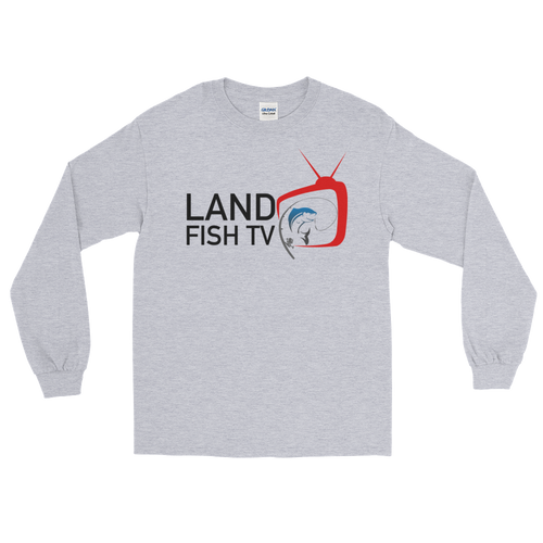 Long Sleeve T-Shirt - 'Colour' Logo front and back - LandFishTV