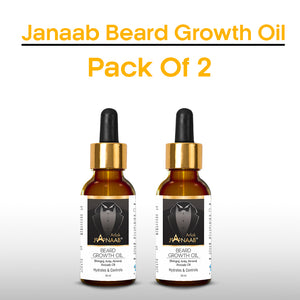 Janaab Beard Growth Oil 50ML (Pack of 2)