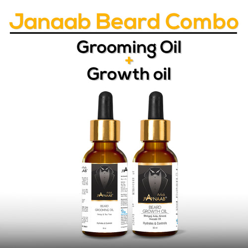 Janaab Beard Growth Oil Combo