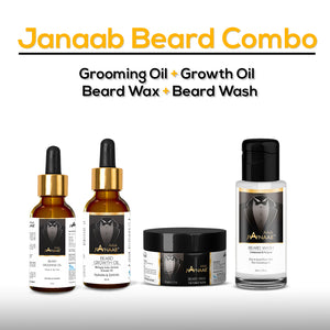 Janaab Beard Combo (Pack of 4)