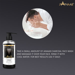 Janaab Activated Charcoal Facial Wash