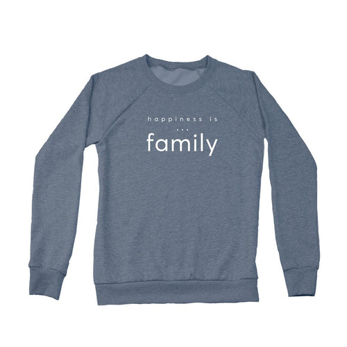 Women's Family Crew Sweatshirt, Heather Navy