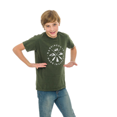 Youth Crest T-Shirt, Forest Green