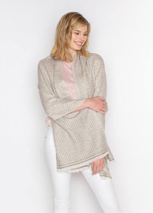 The Code Accessories  Cashmere Wrap in a Textured Knit