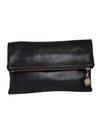 The Code Accessories  Leather Foldover Clutch
