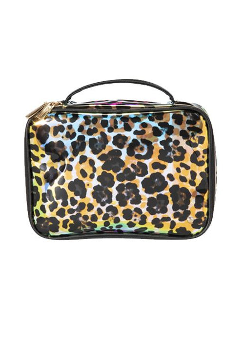 Stephanie Johnson  Claire Jumbo Make Up Case - Cheetah