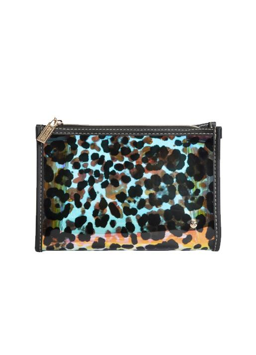 Stephanie Johnson  Medium Zip Cosmetic Bag - Cheetah