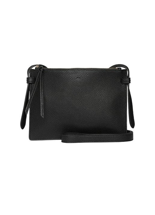 Ela Handbags  Double Cross Body Black