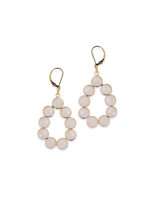 Electric Picks  Halo Earrings with Moonstone