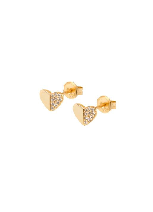 Shashi NYC  Heart Pave Stud Earring