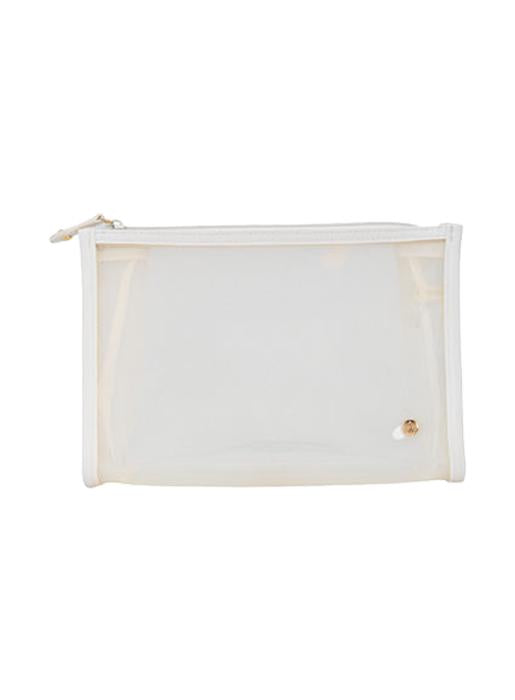 Stephanie Johnson  Medium Zip Cosmetic Bag Clear