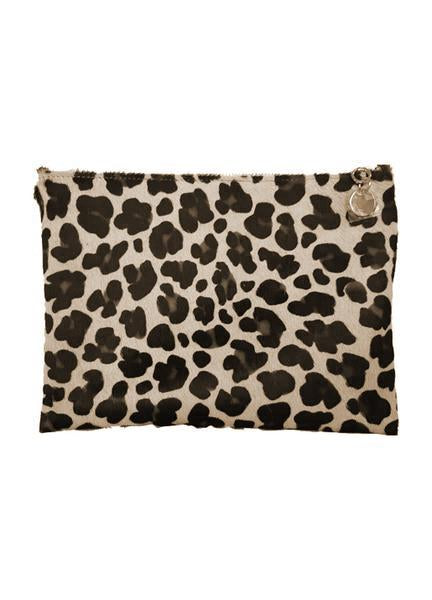 The Code Accessories  Leopard Print zip pouch