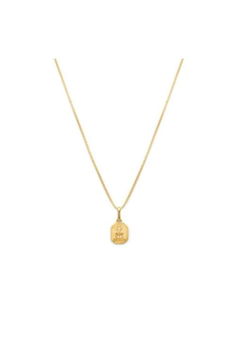 Leah Alexandra  Square Love Token Pendant Necklace