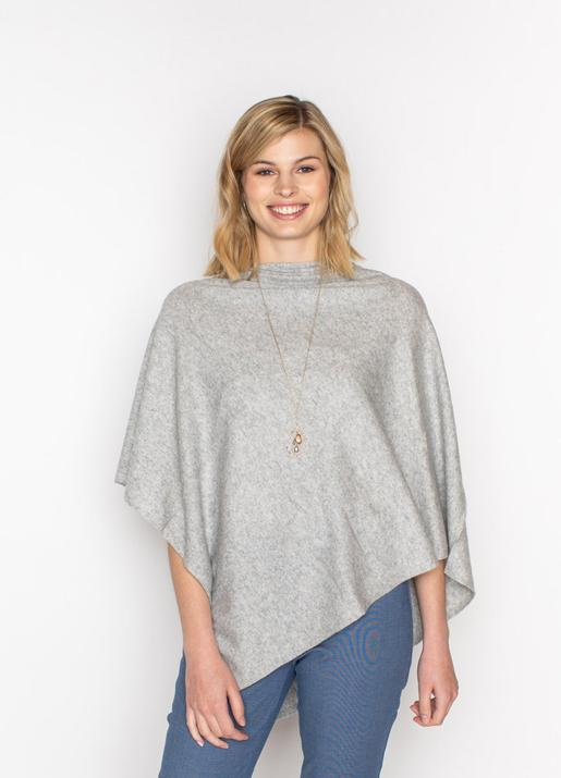 The Code Accessories  Cashmere Poncho - Lt. Grey
