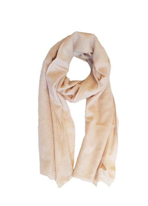 The Code Accessories  Cashmere Woven Frayed End Scarf - Oatmeal
