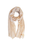 The Code Accessories  Cashmere Woven Frayed End Scarf - navy blue
