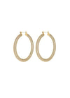 Luv Aj  Pave Amalfi Hoop Earrings