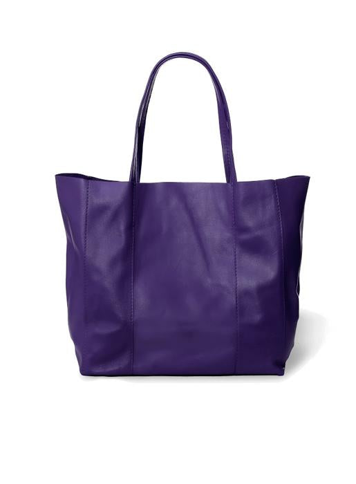 The Code Accessories  Leather Tote - Purple