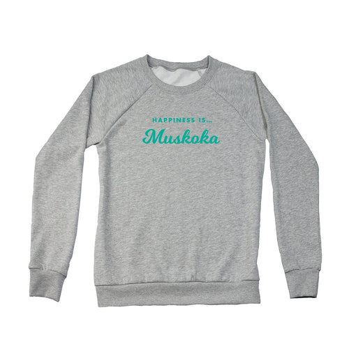 Women's Muskoka Crew Sweatshirt, Heather Grey
