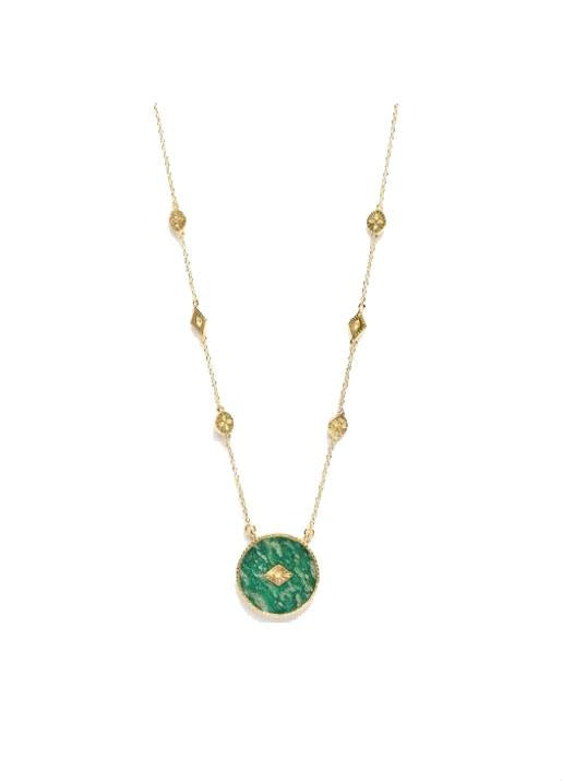 Be Maad  Sanja Necklace Long - Amazonite