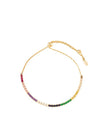 Shashi NYC  Diamond Bar Slide Bracelet - Rainbow