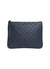 Ela Handbags  Editors Pouch Studs Navy