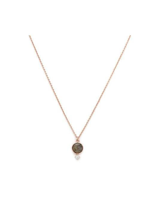 Melanie Auld  Thea Necklace - Rose gold & Labradorite