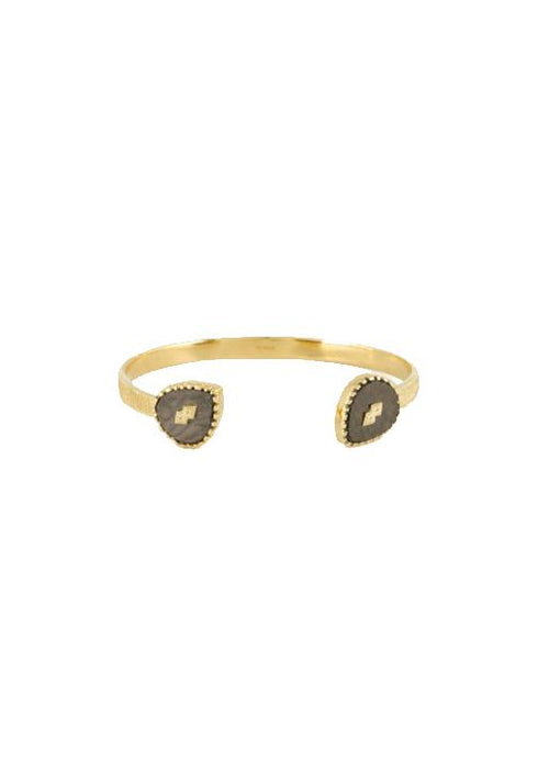 Be Maad  Oma Cuff - Textured Onyx