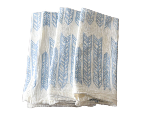 Arrow Napkin - Dusty Blue