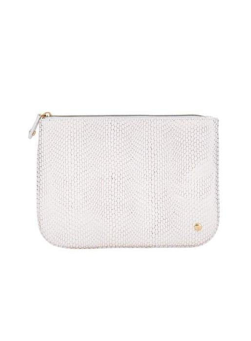 Stephanie Johnson  Large Flat Pouch White